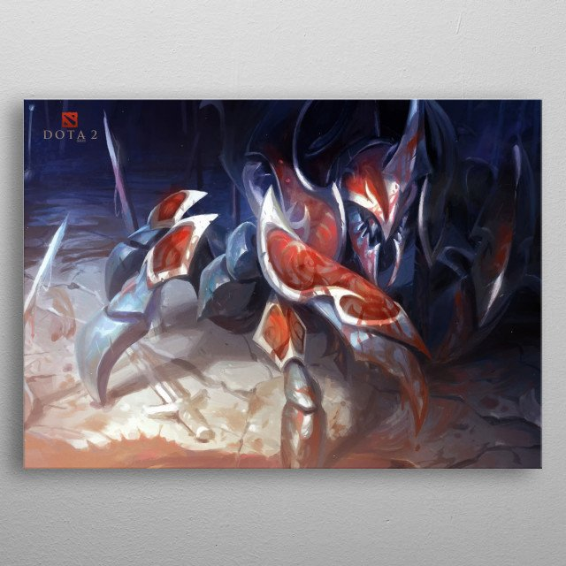 Nyx Assassin is a melee agility hero who is feared as one of the most effective gankers and solo-killers in the game. metal poster