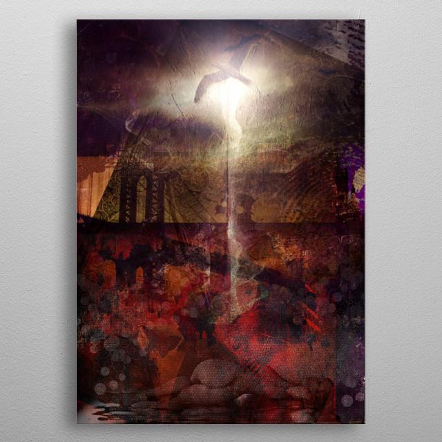 Modern art. Urban Dreams metal poster