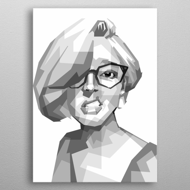 Sketch Illustration people in awesome collor in pop art metal poster