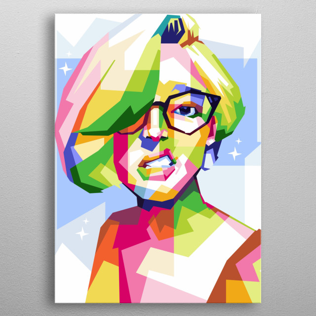 Sketch pop art people in design by illustration with people metal poster