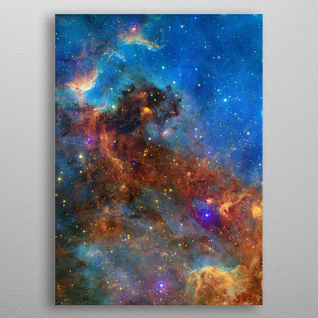 This is a beautiful photo of a nebula named North America. metal poster