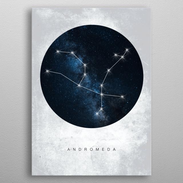 Constelation metal poster
