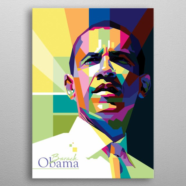 Barack Hussein Obama II is an American attorney and politician who served as the 44th president of the United States from 2009 to 2017.  metal poster