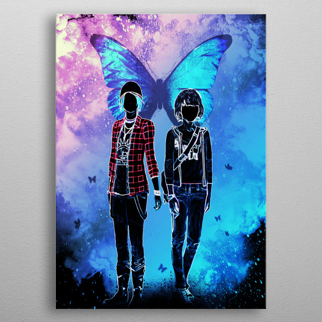 inspired by the butterfly effect  metal poster