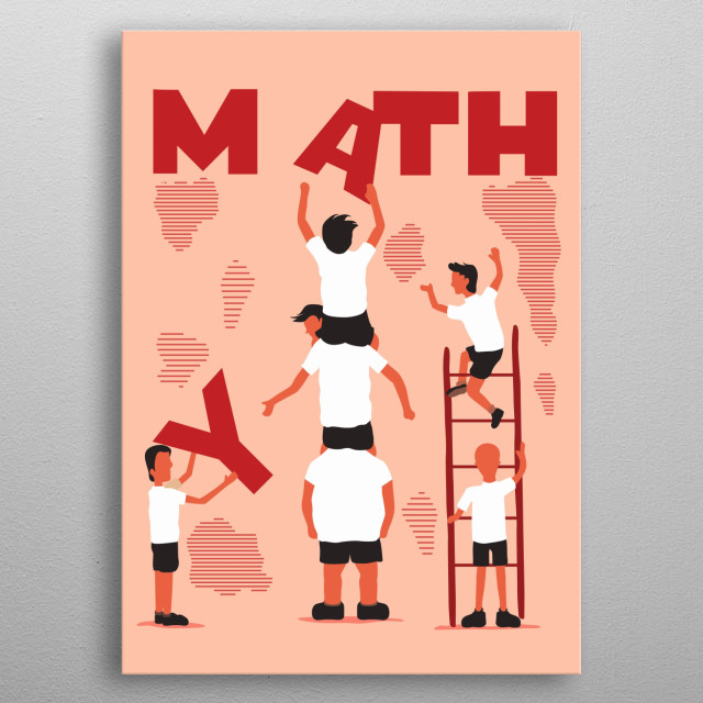 some students going crazy about math metal poster
