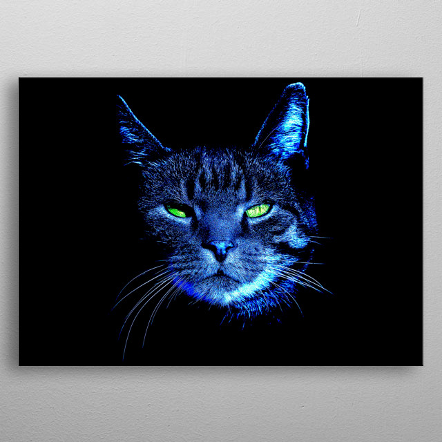 The graceful nature of cats cannot be left untold. And it is the bright moonlight which accentuates their true beauty! metal poster