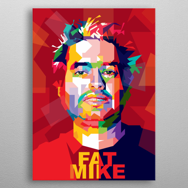 Fat Mike Design Illustration Colorful Style Pop Art metal poster