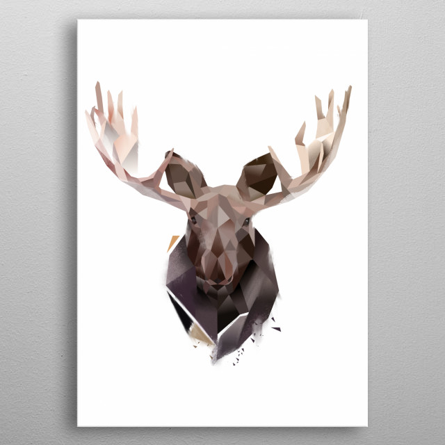 Moose from Modern Animal Collection metal poster