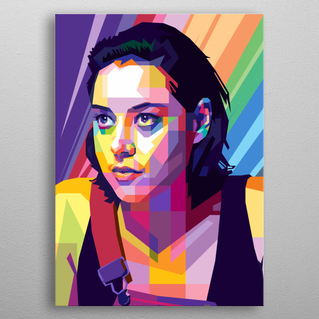 Pop Art in WPAP Style of Lenny Busker (Aubrey Plaza) from TV Series, FX Legion. metal poster