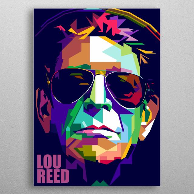 Lou Reed Design Illustration Colorful Style Pop Art metal poster