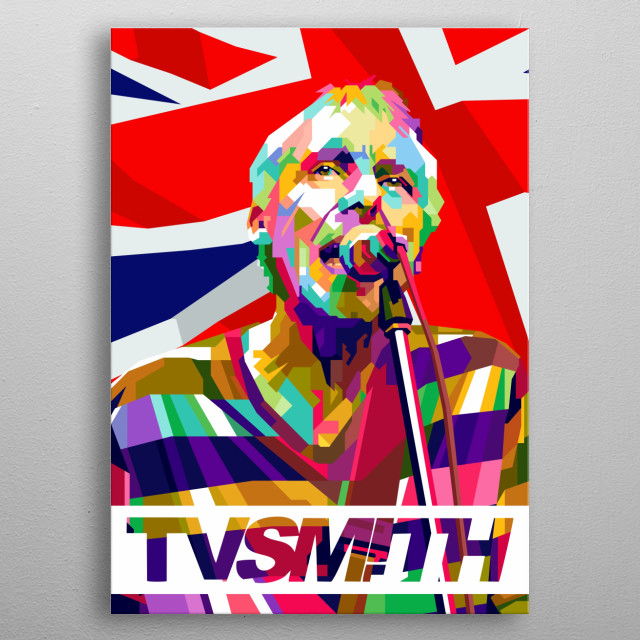 T V Smith Design Illustration Colorful Style Pop Art metal poster