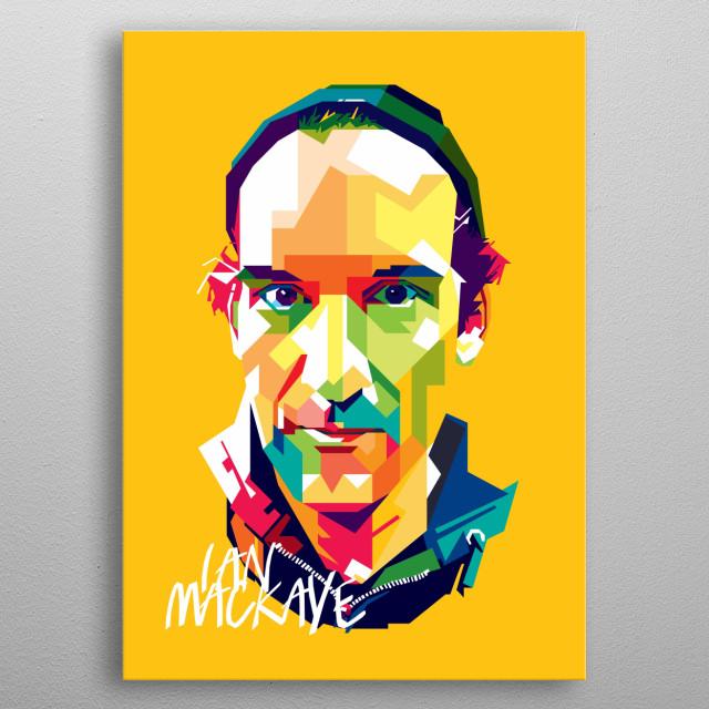 Ian Mackaye Design Illustration Colorful Style Pop Art metal poster