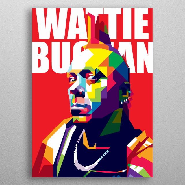 Wattie Buchan Design Illustration Colorful Style Pop Art metal poster