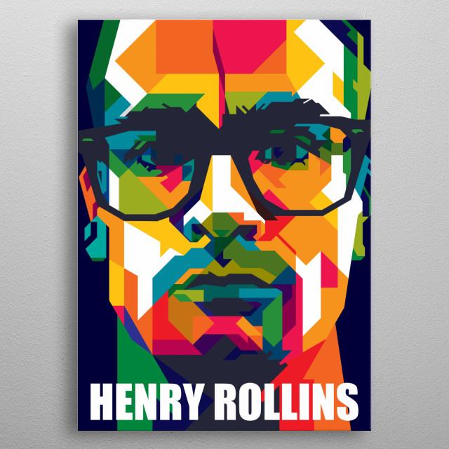 Henry Rollins Design Illustration Colorful Style Pop Art metal poster