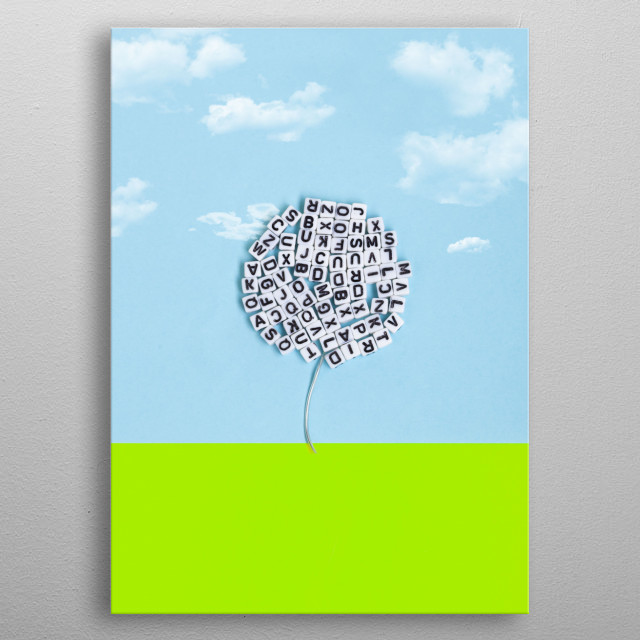 Tree of letters. Concept of nature and literature with space for text. metal poster
