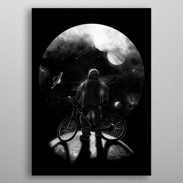 Done in the moon. Where next? :) metal poster