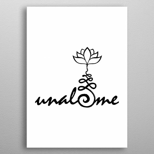 unalome, life symbol metal poster