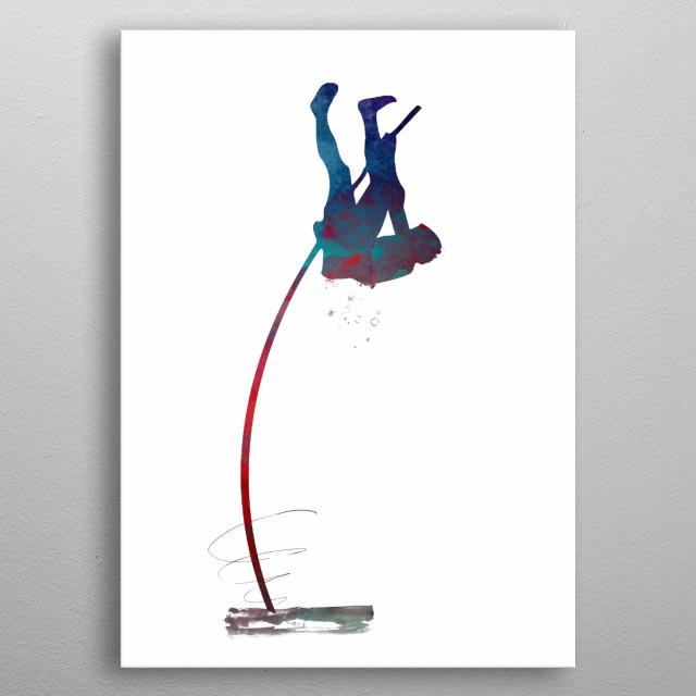 pole vault sport art #polevault #sport  metal poster