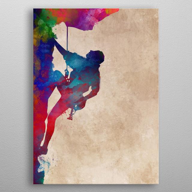mountaineer sport art #mountaineer #sport metal poster