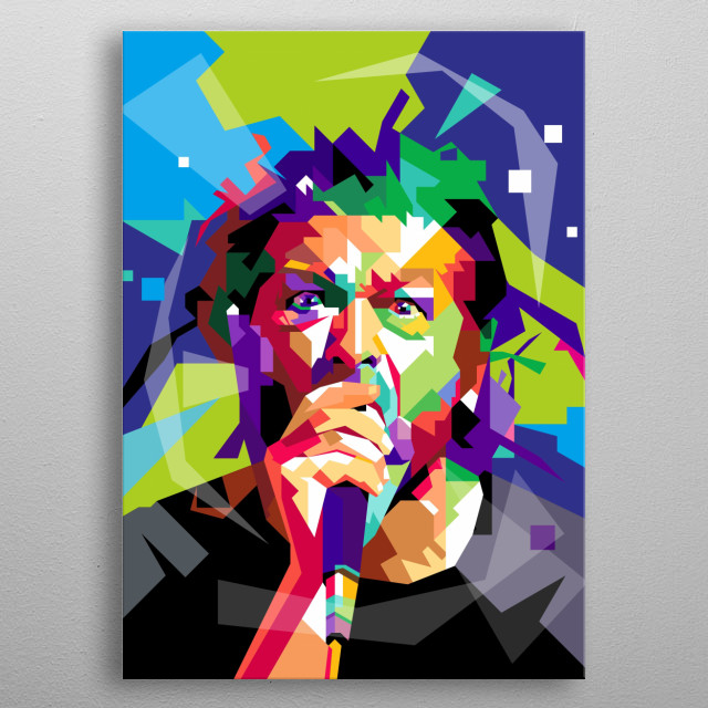 Keith Morris Design Illustration Colorful Style metal poster