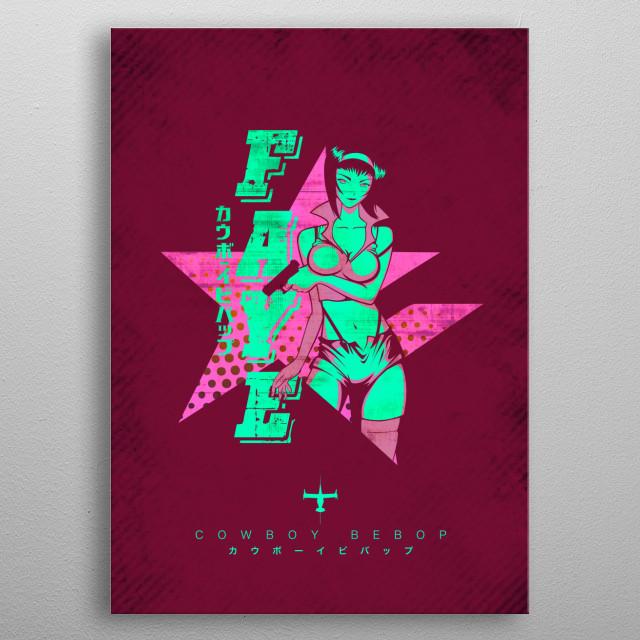 Vector design of Faye metal poster