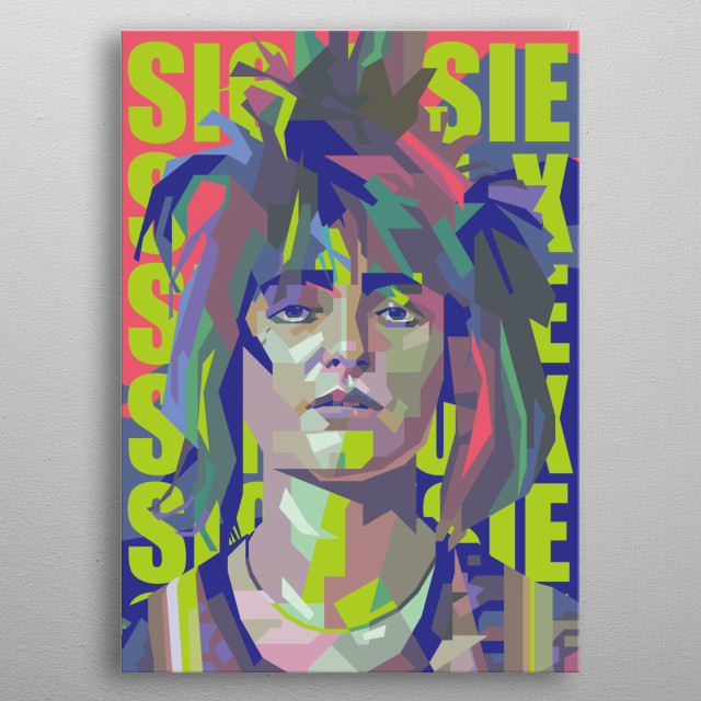Siouxsie Sioux Design Illustration Colorful Style metal poster