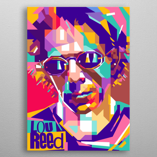 Lou Reed Design Illustration Colorful Style metal poster