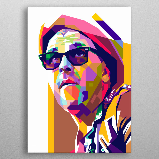 Tim Armstrong Design Illustration Colorful Style metal poster