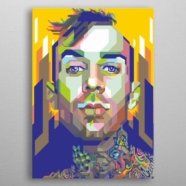 Travis Barker Design Illustration Colorful Style metal poster