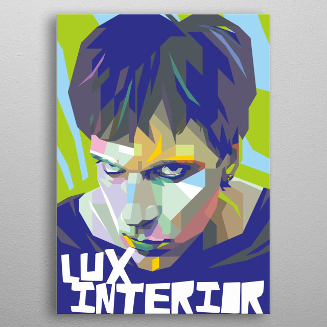 Lux Interior Design Illustration Colorful Style metal poster