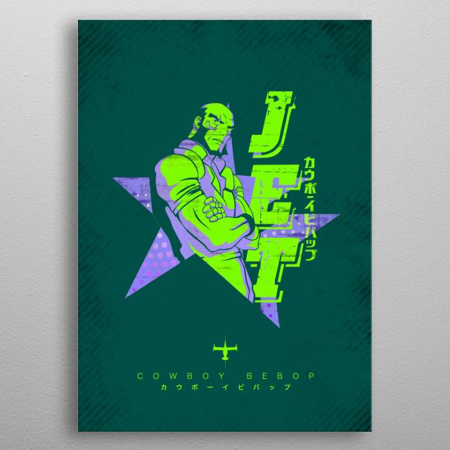Vector design of Jet metal poster