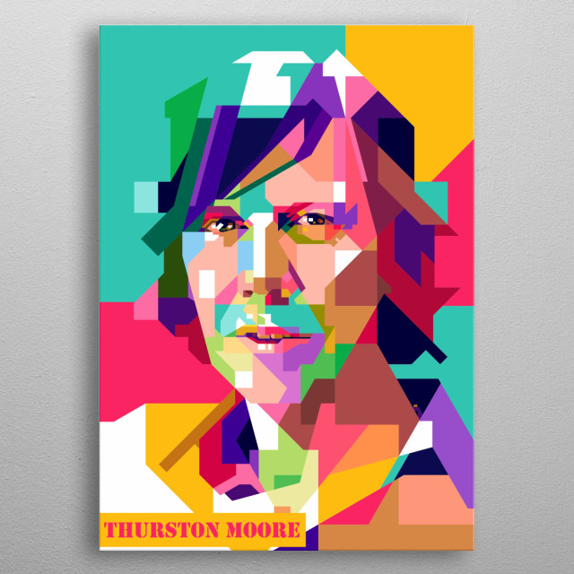 Thursston Moore Design Illustration Colorful Style metal poster