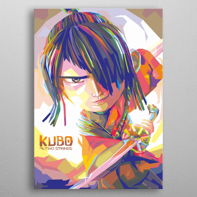 Kubo and The 2 Strings Design Illustration Colorful Style metal poster