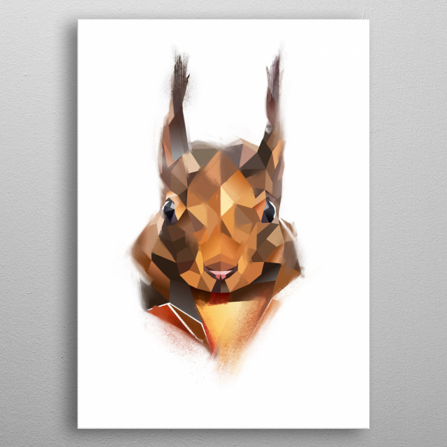 Squirrel from Modern Animal collection metal poster