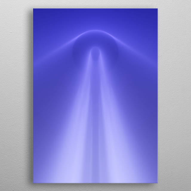 My new incredible ambient light starship metal poster