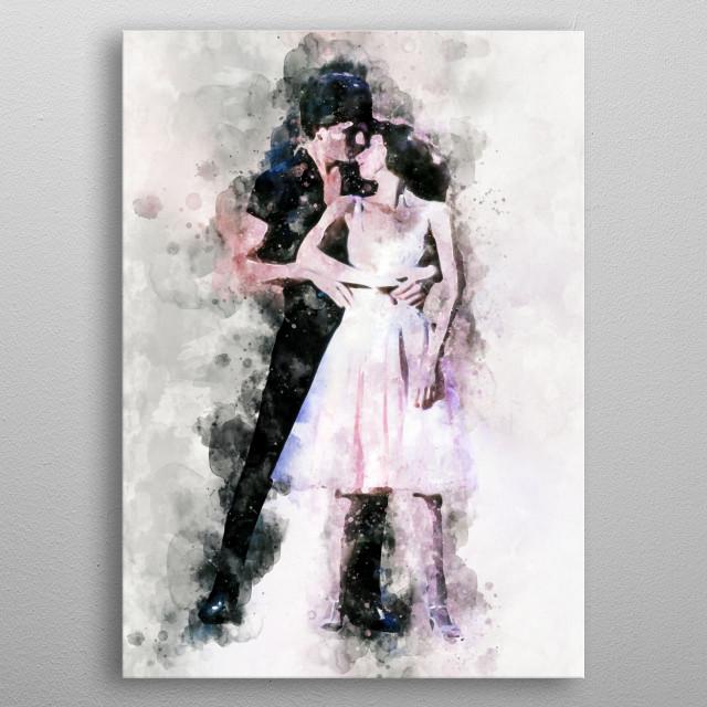 Dirty Dancing watercolour metal poster