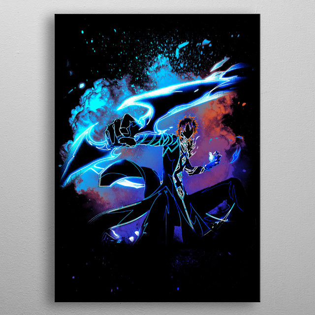 Black silhouette of the soul of quincy powers metal poster
