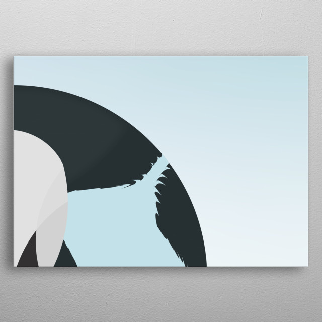 !Multi-art! Abstract Swan illustration by Rasmus Lange metal poster