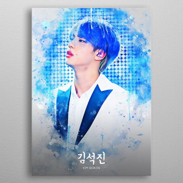 Kim Seok Jin is a South Korean singer and songwriter. He is a member and vocalist of the South Korean boy group BTS. metal poster