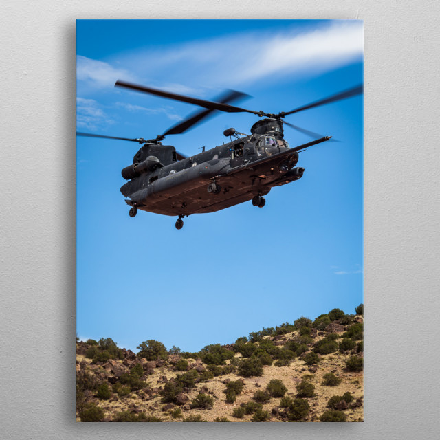 MH-47G Chinook Special Operations Helicopter metal poster