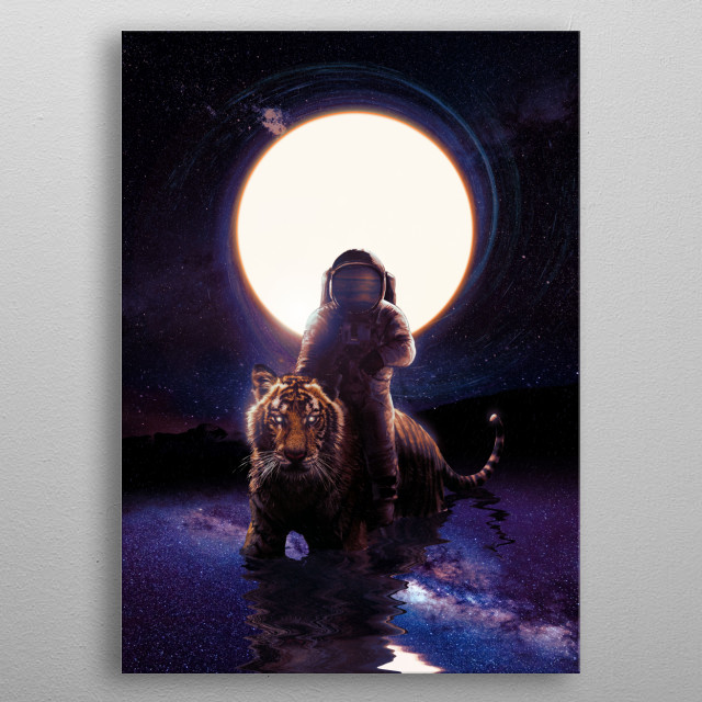The hunter in space. metal poster