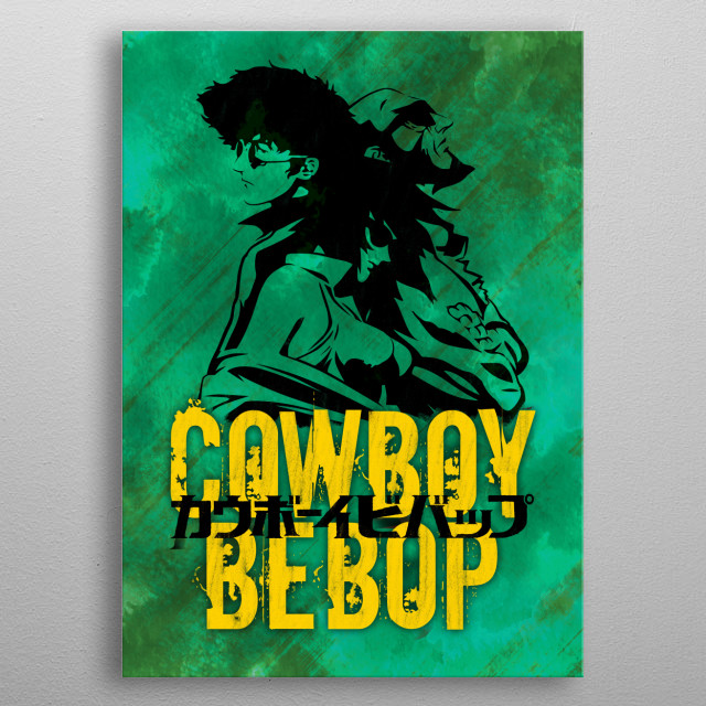 Vector design of Space Cowboys metal poster