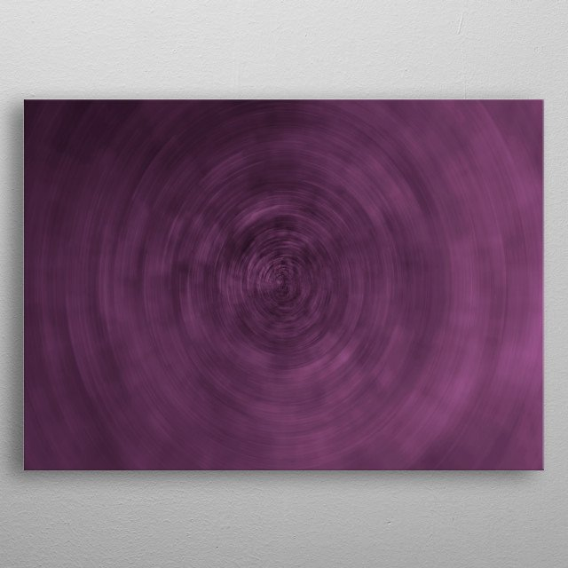 Abstract purple nebula. Space background metal poster