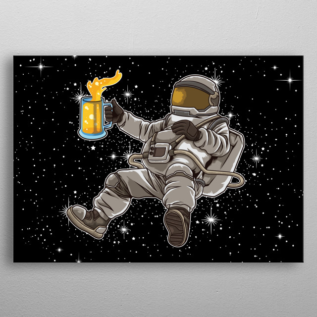 This great universe design is the perfect gift for every rocket enthusiast and science fiction lover. Escape everyday life & fly to the moon metal poster