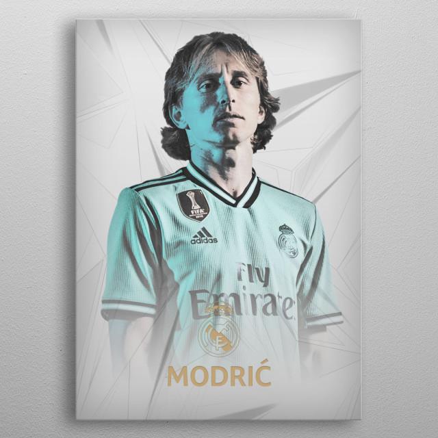 Luka Modric drawn design. metal poster