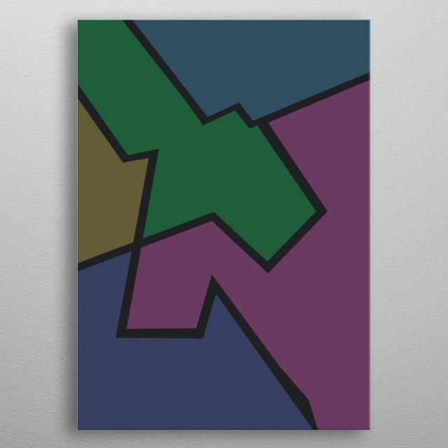 Abstract colorful background. Beautiful art metal poster