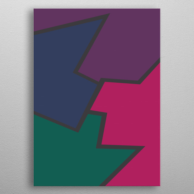Beautiful colorful abstract art metal poster