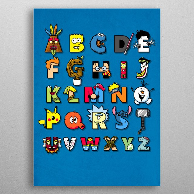 back to school metal poster