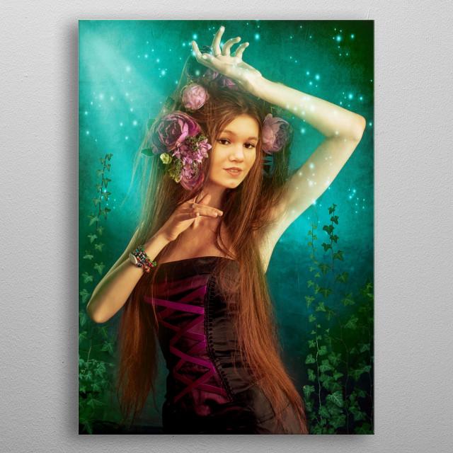 Underwater beauty metal poster
