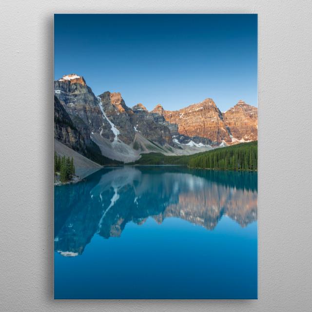 Sunrise at Moraine Lake.  metal poster